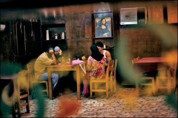 Cocktails in a restaurant in the port of Latakia. Photo:Seamus Murphy