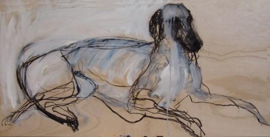 Domestic Dog 120x60cm mixed media on board ©2013