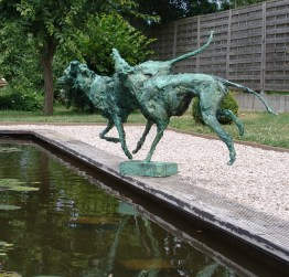 Playing Dogs original in paper 102 x 80 cm bronze edition of 8