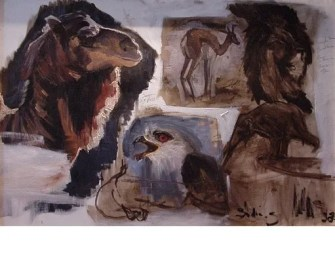 Mixed Study Oil on canvas Lioness 150x100cm ©2004
