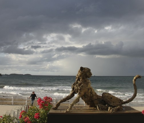 Life size Cheetah - Dinard beach Summer 2015