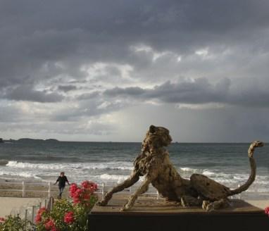 Cheetah 110x65cm at the beach in Dinard (F) ©2014