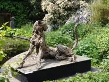 Cheetah 110x65cm at the garden exhibition Latem Gallery