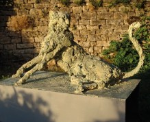 Cheetah 110x65cm 1/8 in a garden