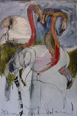 Flamingos 100x150cm oil on canvas ©2004
