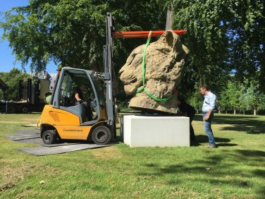 Installation Monumental Head of a Panther at CAC Matmut