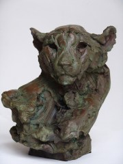 Head of a Cheetah III 34 x 29 x 34 cm ©Villas 2018