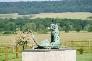 Guépard couché au Jardin de Sculptures