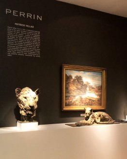 Head of a Lioness II & Resting Leopard on Masterpiece London