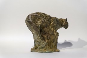 Small Leopard on the prowl 21x24x12cm 1/8 bronze