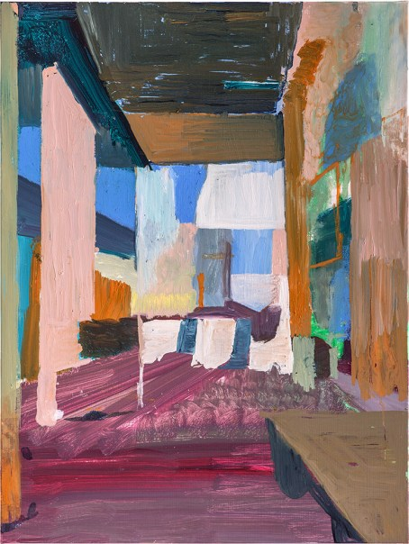 Piet Raemdonck Two Streets 2017 60x80 oil paint & oil crayon on canvas