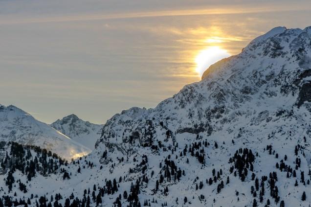 Sonnenaufgangüber den Alpen