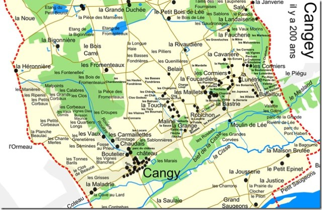 Toponymes de Cangey