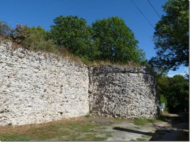 Castellum de Larçay, vue du nord