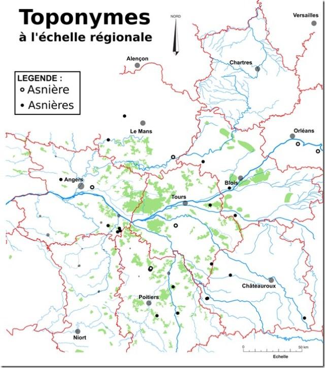 Toponymes Asnière(s) Région copie