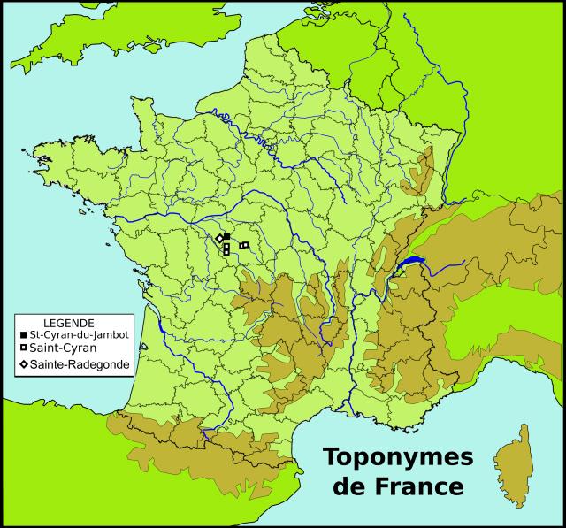 Saint-Cyran à Sainte-Radegonde