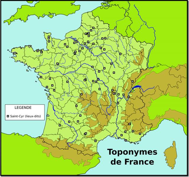 Toponymes Saint-Cyr (lieux-dits)