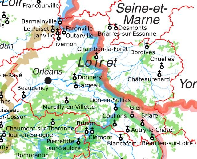Les églises Saint-Etienne dans le Loiret