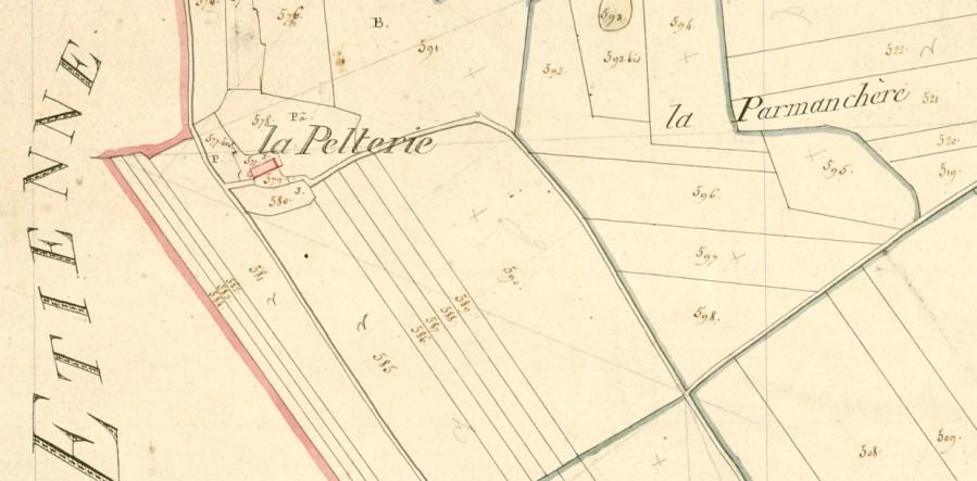 Toponyme La Pelterie - Cadastre napoléonien de Françay (41)