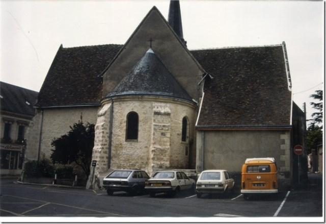 L'abside romane en cul de four de l'église Saint-Vincent-et-Saint-Gilles de Villedômer (37)
