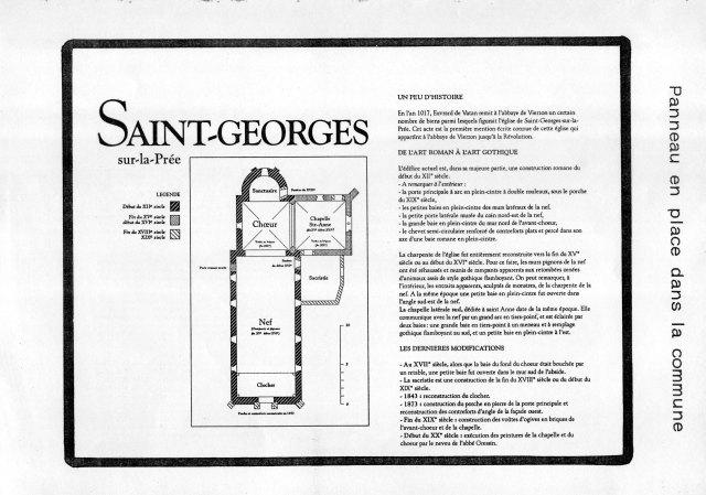 Panneau conservé dans l'église Saint-Georges-sur-la-Prée