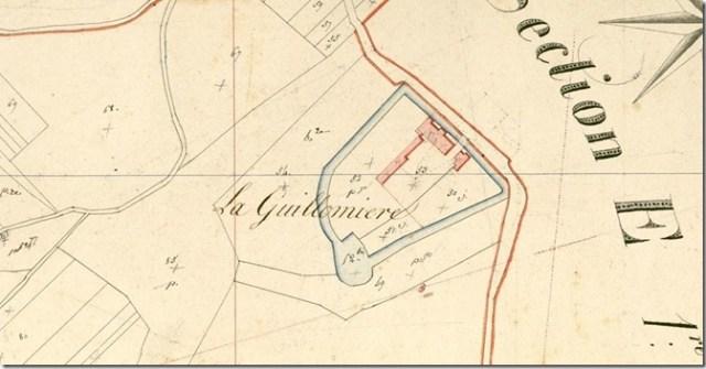 La Guillaumière sur le cadastre ancien, section E de la Guillommière, 2ème feuille