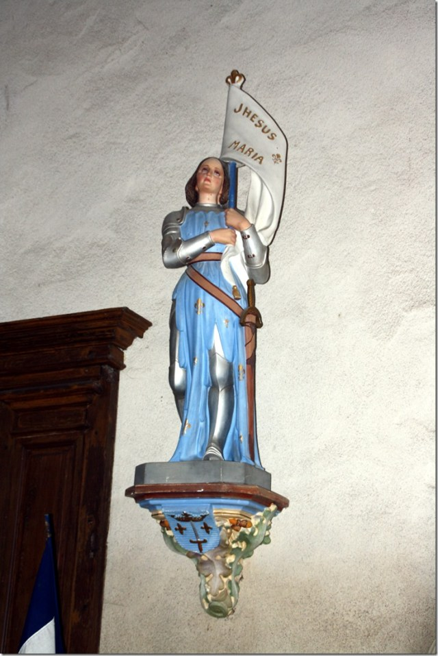 Statue en plâtre de Jeanne d'Arc, église Notre-Dame de Françay (41 ; Loir-et-Cher)