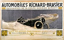 Automobiles_Richard-Brasier La coupe Gordon Benett Autre Divers