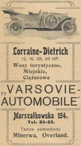 Lorraine-Varsovie-Automobile-1911-166x300 Lorraine Dietrich 1913 en Pologne Bis Lorraine Dietrich Lorraine Dietrich 1913 Bis