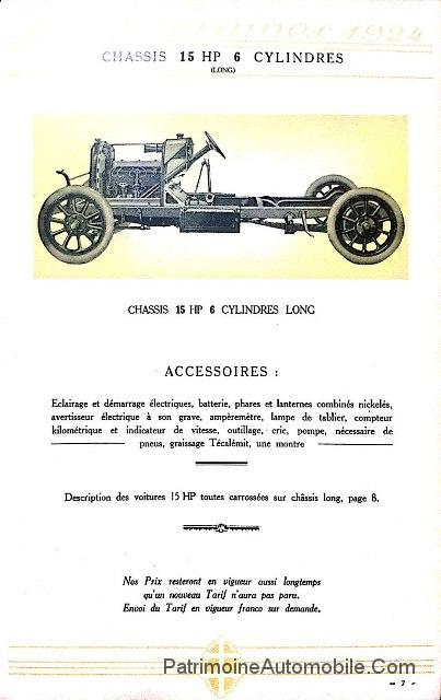 catalogue lorraine dietrich 1924 patrimoine automobile com. Black Bedroom Furniture Sets. Home Design Ideas