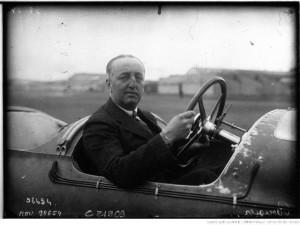 Grand Prix de Strasbourg, Rougier sur Voisin au volant, 1922