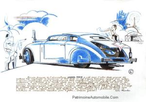 voisin-aerosport-mondial-2014-dessin-300x209 Voisin C28 Aérosport au Mondial de l'Automobile 2014 Divers Voisin