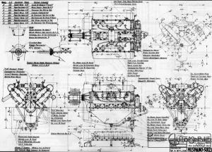 """HS-Engine-V8-300x216 Qu'est-ce qu'un """"Bitza""""? (ex: Delage/Hispano) Cyclecar / Grand-Sport / Bitza Divers"""