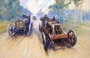 Crosby-Grand-Prix-van-Frankrijk-in-1906-klein-300x193 L'art et Lorraine Dietrich L'art et Lorraine Dietrich Lorraine Dietrich
