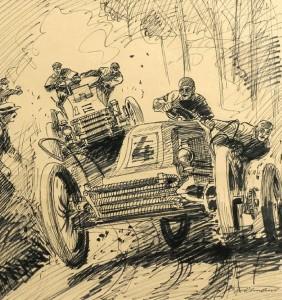 Le Paris à Madrid de Decauville de 1903. Léon Théry double la de Dietrich de Charles Jarrott.