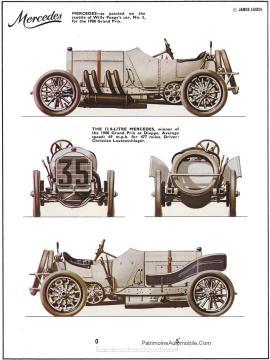 """Mercedes-1908-5-225x300 Mercedes-Simplex """"Grand prix de France"""" 1908 Cyclecar / Grand-Sport / Bitza Divers Voitures étrangères avant guerre"""