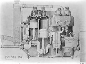 Mercedes 1908 moteur