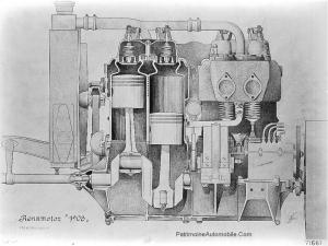 "Mercedes-1908-moteur-300x225 Mercedes-Simplex ""Grand prix de France"" 1908 Cyclecar / Grand-Sport / Bitza Divers Voitures étrangères avant guerre"