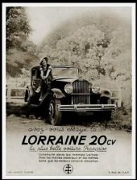 Lorraine 20 cv avez vous essayez - Publicite Automobile de 1933