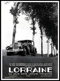 Lorraine-40-ans-experience-Publicite-Automobile-de-1933-223x300 Lorraine 20 CV (types 310/311) Lorraine 20 Cv
