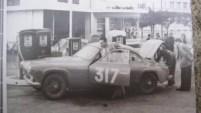 Salmson 2300 proto chassis tubulaire. Eugène mMartin au rallye de Maroc