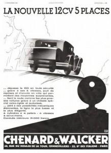 Chenard et Walcker 1931 12cv