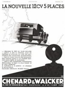 Chenard-et-Walcker-1931-12cv-218x300 Chenard et Walcker Type P de 1908 Divers Voitures françaises avant-guerre