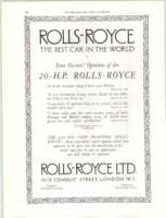 RR-20-HP-pub-229x300 Retrospective Rolls-Royce Divers Voitures étrangères avant guerre