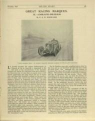 motor-sport-1927-Lorraine-Dietrich-1-235x300 Les Grandes Marques de Course, Lorraine Dietrich dans MotorSport de nov.1927 Lorraine Dietrich Lorraine Dietrich dans MotorSport