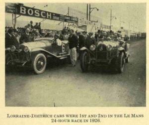 Lorraine Dietrich motor sport 1927 photo 3