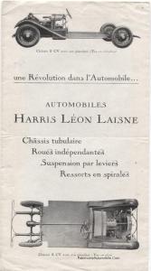 dépliant-automobile-HARRIS-LEON-LAISNE-chassis-6-et-8-CV-1926-3-167x300 Harris Léon Laisne de 1931 Divers Voitures françaises avant-guerre