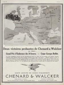 Chenard et Walcker victoires 1923