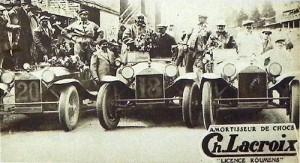 Depart du Grand Prix de Belgique 1929 l equipe Lancia aura la Coupe du Roi-