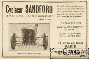 Sandford-doc-1-300x200 Sandford Type FT5 de 1934 Cyclecar / Grand-Sport / Bitza Divers
